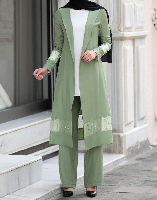 green_coatpant_and_ecru_blouse_suit