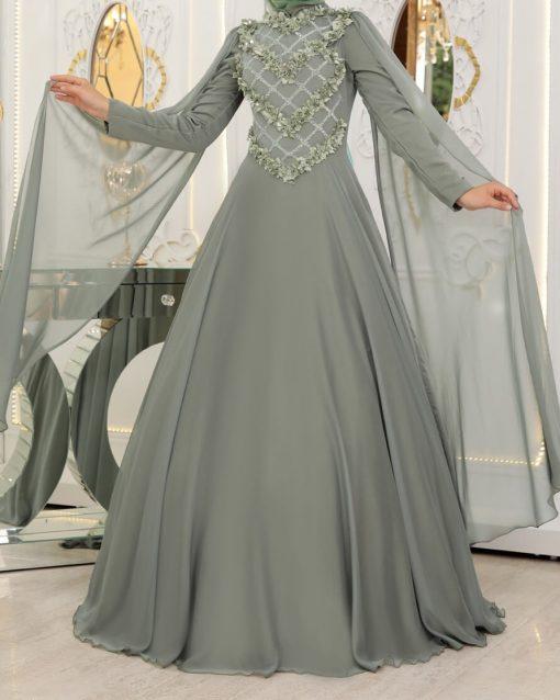 khaki gown