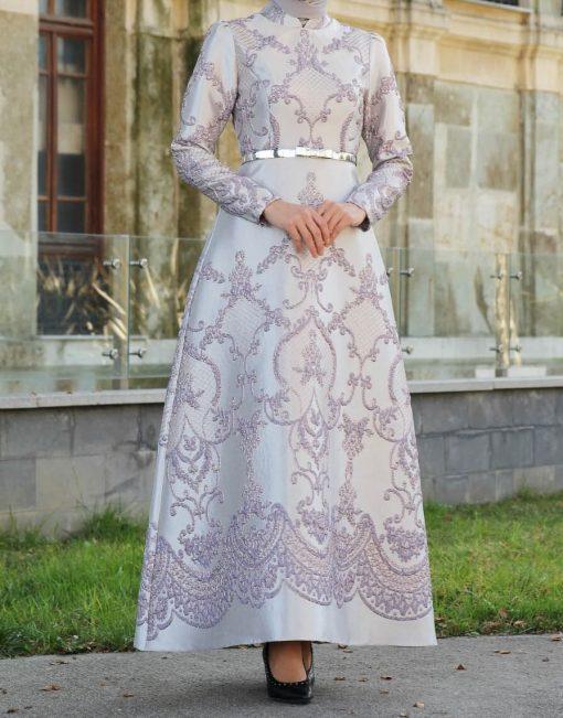 patterned grey dress