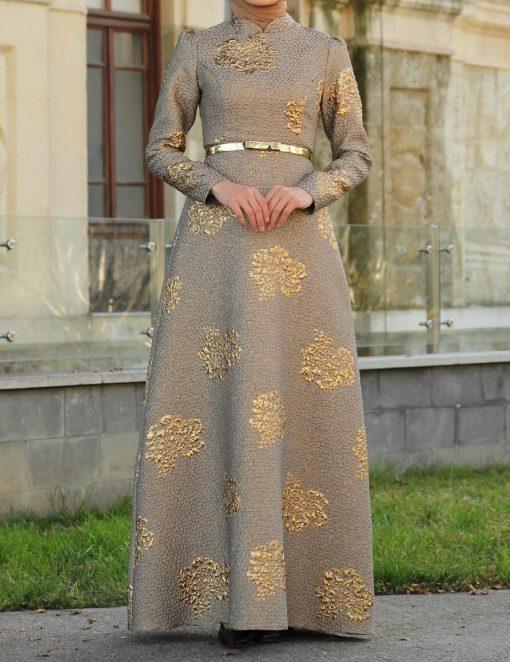 patterned vison dress