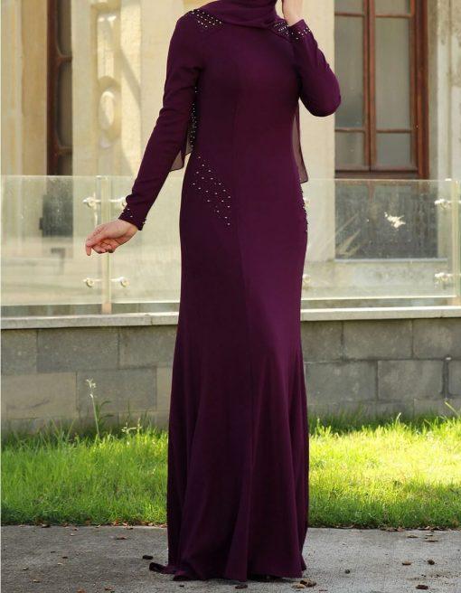 pearl-purple dress