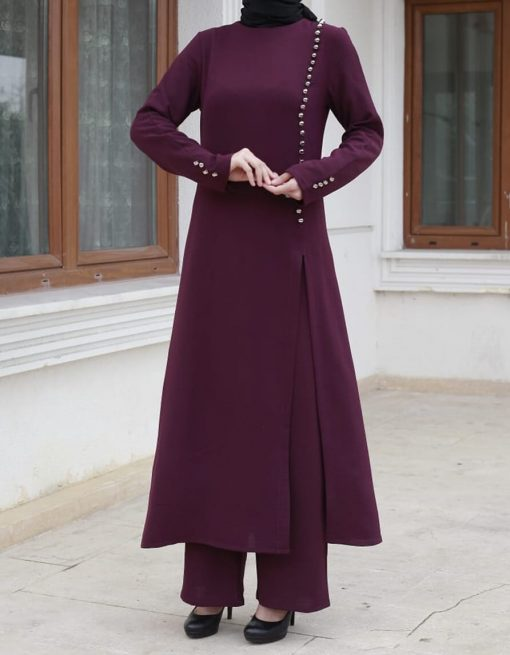 plum _tunic_and_pant_suit