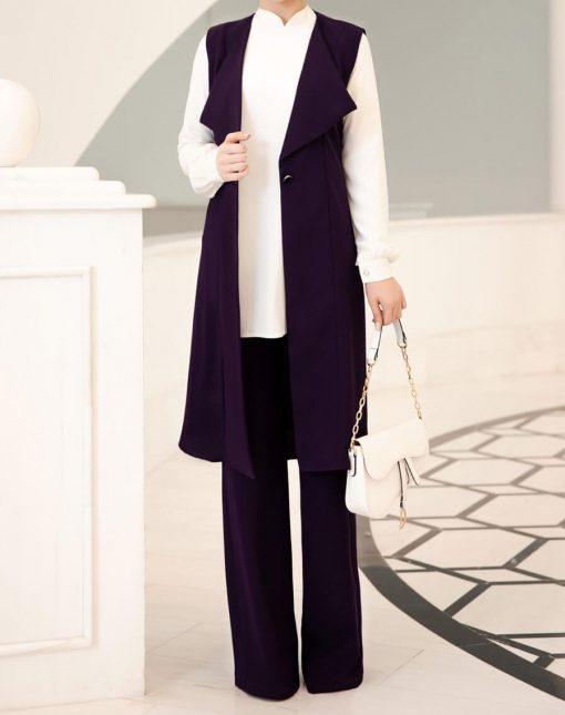 purple_vest_pant_and_ecru_tunic_suit_