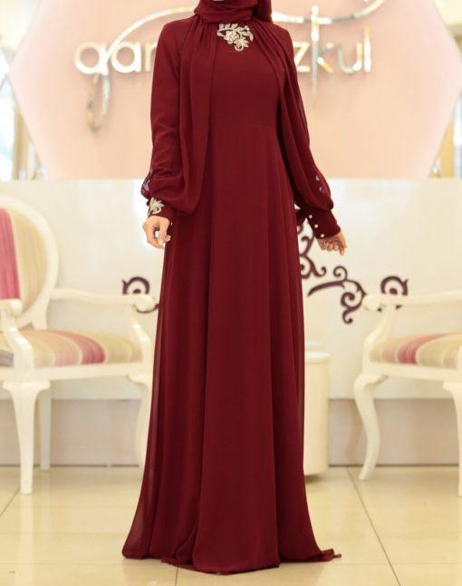 red abaya dress