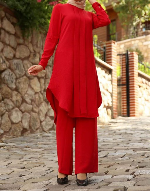 Red tunic&pants