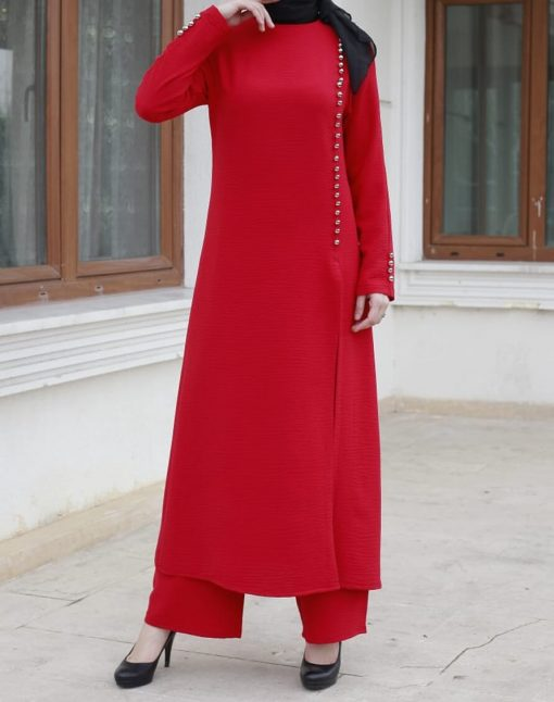 red_tunic_and_pant_suit