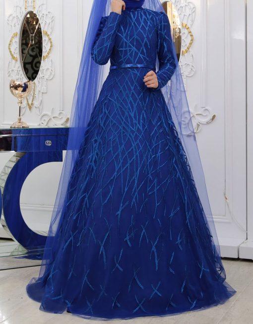 yagmur sax blue gown