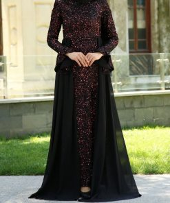 sequin_detailed_claret_red_evening_dress