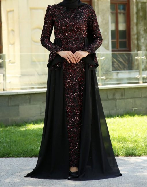 sequin_detailed_claret_red_evening_dress