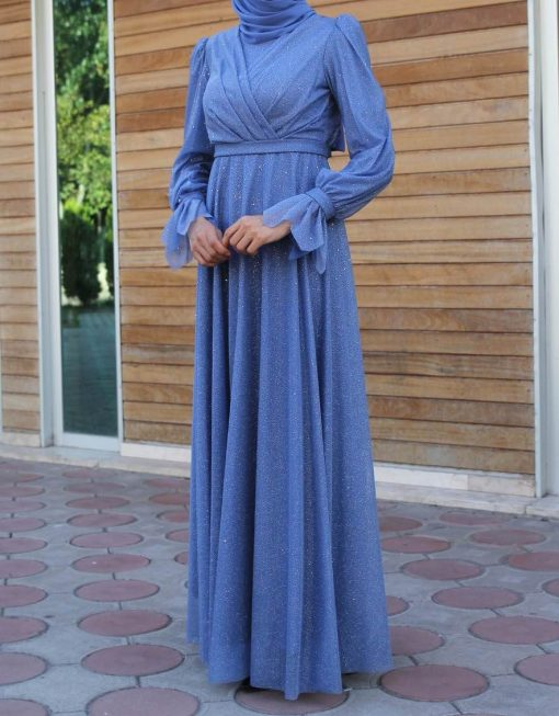 shiney blue dress