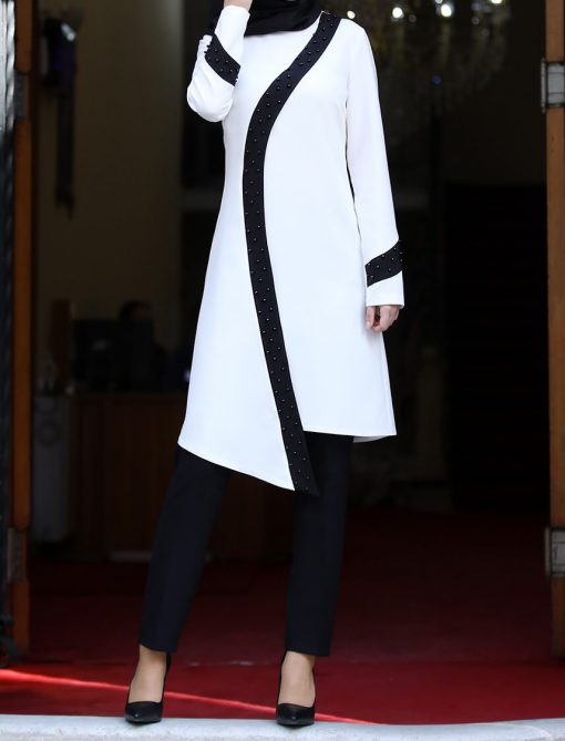 ecru_tunic_and_black_pant_suit