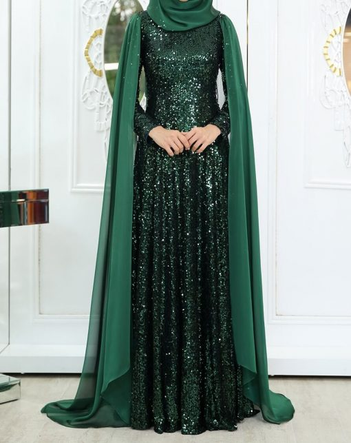 yeni_huma_green_eveningdress