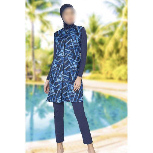 Blue patterned swimwear
